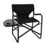 Onway (オンウェー) サイドテーブル付ディレクターチェア Director Chair with Side Table  OW-N65T-BLK